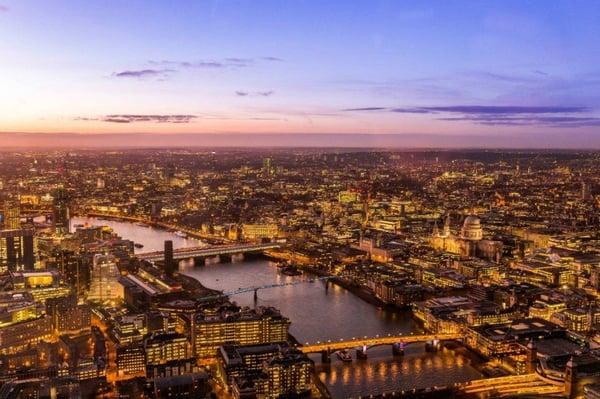 Skyline of London shows B2b Outbound Marketing outreach